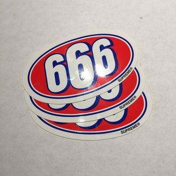 Supreme 666 Stickers