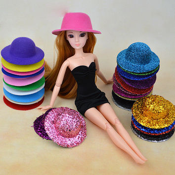 15 Styles Doll Hat Headwear Accessories For 1/6 Barbie Kurhn Doll Gift New 2016 Toys for
