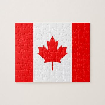 Puzzle with Flag of Canada