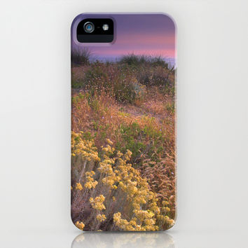 Flowers in the sand. Sea life iPhone & iPod Case by Guido Montañés