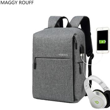 2018The New Anti-Theft Backpack Smart USB Dual Lnterface Charge Backpack Men's Business Waterproof Oxford Fabric Laptop Backpack