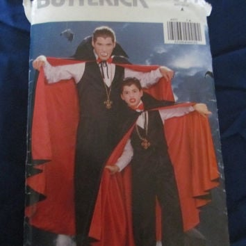 SALE Vintage Butterick Costume Sewing Pattern 4971!  Cape, Vampire, Mens and Boys.