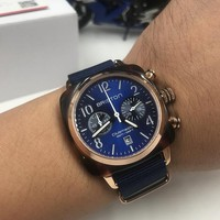 DCCK B006 Briston Clubmaster Quartz Movement Ingenieur Chronograph Watches Blue Roes Gold