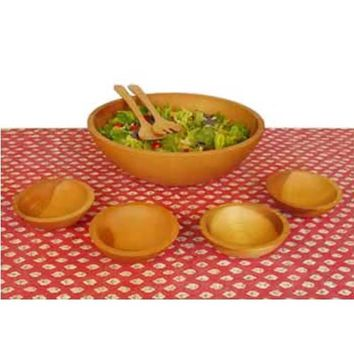 Holland Bowl Mill 117B5S Oil-Finished Five-Bowl Wooden Salad Bowl Set