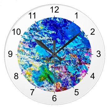 Art of color palette large clock