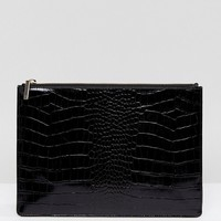 Whistles textured Medium Clutch at asos.com
