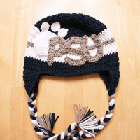 Paw print hat, lion hat, Butler bulldog hat for kids, Nittany lions, Butler University hat, Penn State hat, 12 month to 4t sizes available