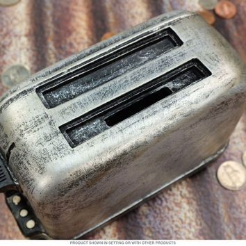 Toaster Silver Resin Novelty Coin Bank_D