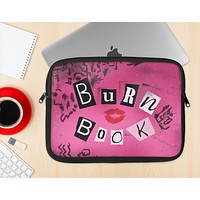 The Burn Book Pink Ink-Fuzed NeoPrene MacBook Laptop Sleeve