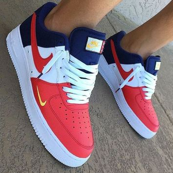 Nike Air Force 1 Low Mini Swoosh USA Sneakers 4503fe191d66