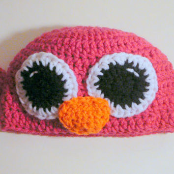 Hot Pink Bird Hat - Toddler to Small Child