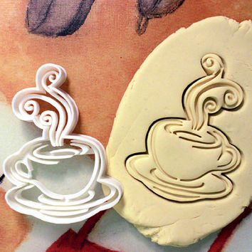 Coffee Latte Cappucino Cookie Cutter - Made from Biodegradable Material