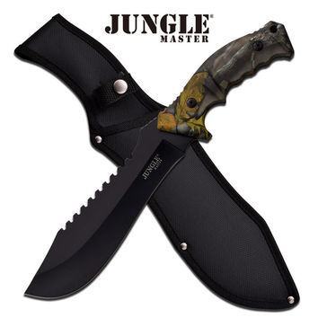 Jungle Master 15 Inches Machete With Forest Camo Handle