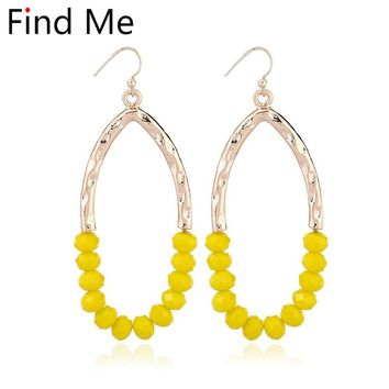 Find Me 2018 fashion Luxury personality gold color Dangle earrings Vintage initial irregularitie drop Earring for women Jewelry
