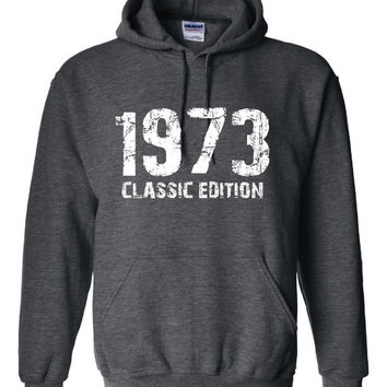 1973 Classic Edition 40th Birthday Anniversary Party Unisex Hoodie Over the Hill Cute Bday Gift