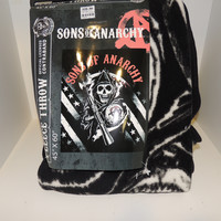 Sons of Anarchy Logo Stripe Blanket