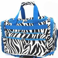 World Traveler Blue Zebra Duffle Bag 19-inch