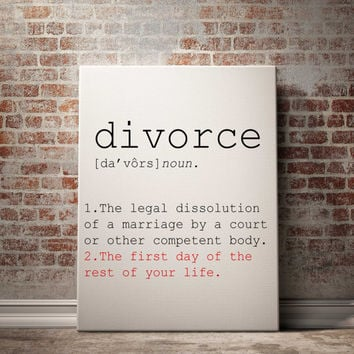 Definition of Divorce Funny wall art Typography Print Funny Poster Name Definition Instant Download Printable Art Minimalist Art Word Art