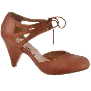Whiskey Cake Cut-Out Maryjane Pumps
