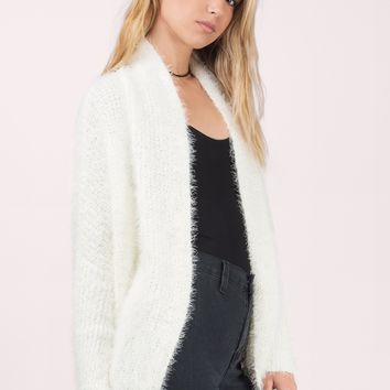 Keeping Warm Fuzzy Cardigan