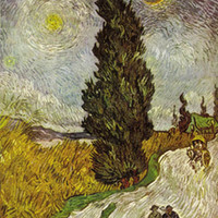 Road With Cypresses Poster by Van Gogh