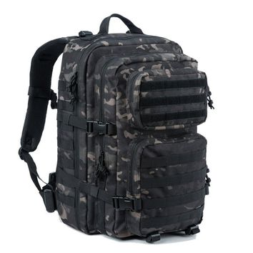 Military Tactical Backpack Large Army 3 Day Assault Pack Molle Bug Out Bag Backpack Outdoor Hunting Hiking Camping Trekking School Rucksacks Black Camo