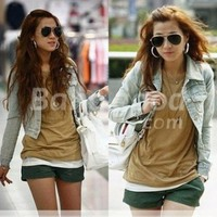 Fashion Women's Korean Denim Jacket Slim Outwear Short Shirt Top Free Shipping!  - US$21.31