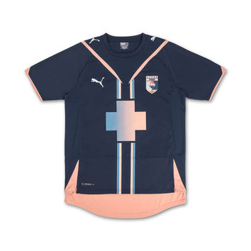 Pink Dolphin x PUMA® Association Inset Jersey in Dress Blues – Pink+Dolphin