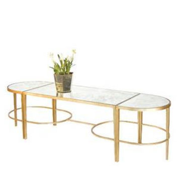 Gold Leafed Sabre Leg 3-Piece Coffee Table