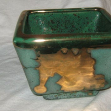 Vintage 1950s-1960s Westwood Ware 450 Turquoise with Gold splash - Pottery