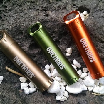 OneTigris Portable Survival EDC Waterproof Pill Match Case Container Capsule Seal Bottle Holder Tool Emergency Outdoor Gears