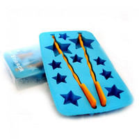 Creative Star Shaped Rubber Ice Cube Tray Blue - Default