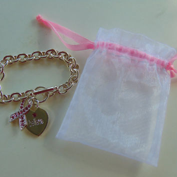 BELIEVE Breast Cancer Bracelet by Carson Pirie Scott
