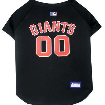 San Francisco Giants Baseball Dog Jersey Large