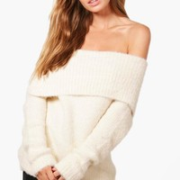 Louise Soft Knit Bardot Jumper | Boohoo