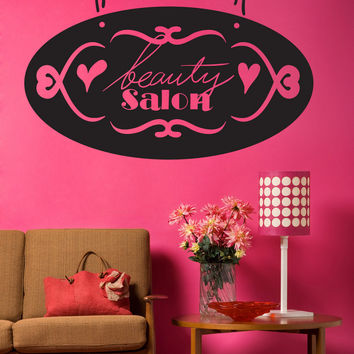 Vinyl Wall Decal Sticker Beauty Salon Sign #OS_MB1016
