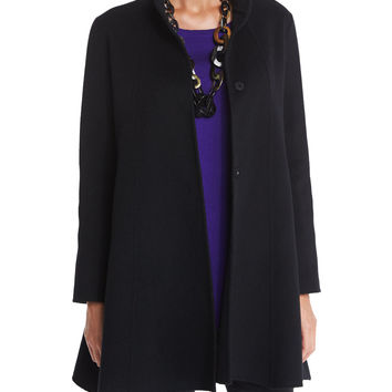 Brushed Wool Swing Coat, Petite, Size: