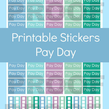 Erin Condren Planner Stickers, Pay Day Planner Stickers, Pay Day Stickers, Printable Erin Condren Stickers, Printable Planner Stickers