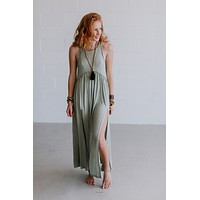 Daisy Chain Maxi Dress - Lily Green