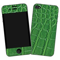 Green Gator Skin  for the iPhone 4/4S by skinzy.com