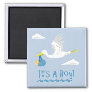 It's a Boy! 2 Inch Square Magnet