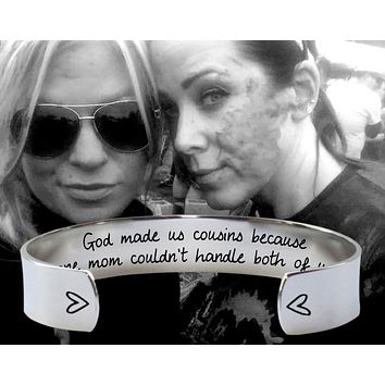 God Made Us Cousins Bracelet | Cousin Gifts