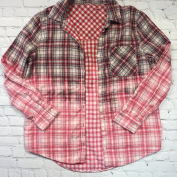 Pink Maisy Women's Destructed Ombre Flannels Medium/Large