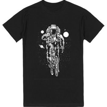 Astronaut on a bicycle