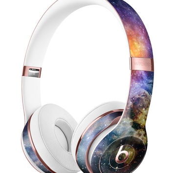 Rust and Bright Neon Colored Stary Sky Full-Body Skin Kit for the Beats by Dre Solo 3 Wireless Headphones