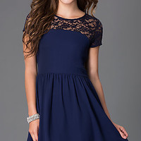 Short Scoop Neck Short Sleeve Dress