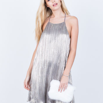 The Metallic Party Dress