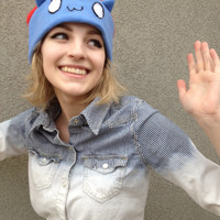 Catbug from Bravest Warriors Inspired Fleece Hat Handmade