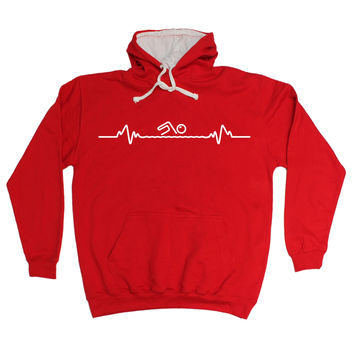 123t USA Swimming Pulse Funny Hoodie