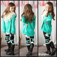 Girls Spring French Terry Tunic